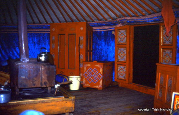 Ger (Yurt) interior