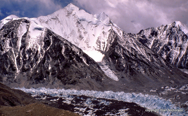 Chomolungma (Everest) north face from Rongbuk glacier