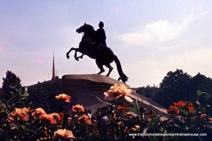 The Bronze Horseman (Peter I)  in St Petersburg as Chekhov would have seen it