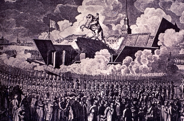 Unveiling Falconet's statue of Peter the Great in 1782