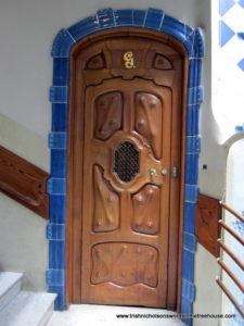 A Gaudi door, Barcelona
