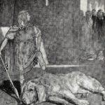 Cuchulainn slays the hound