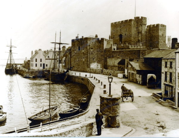 Castle Rushen c. 1895. Credit: Fenton Photographic Gallery