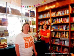 Mog and Pauline at Warwick Books