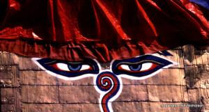 Stupa eyes close-up