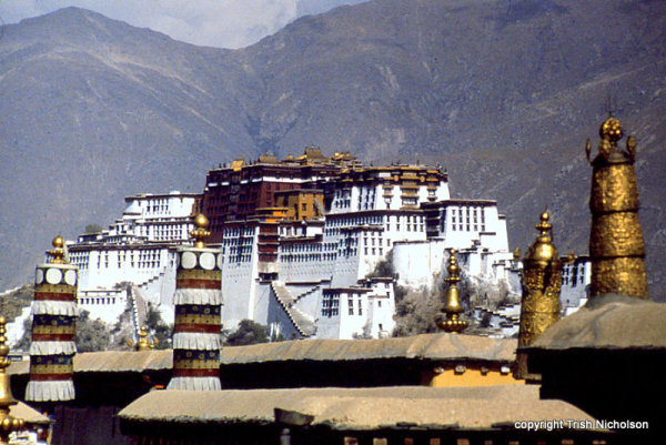 Potala Palace in Lhasa, the seat of the Dalai Lama, started in 1645