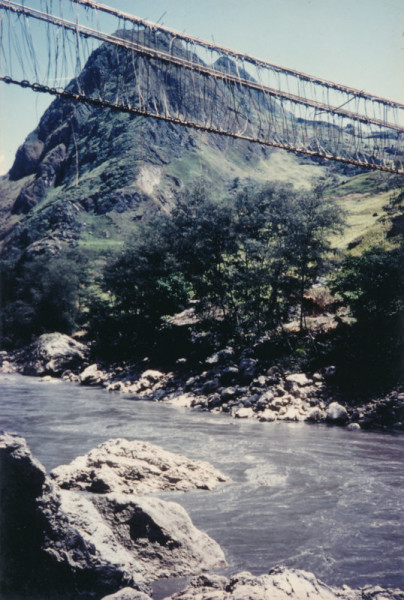 Papua New Guinea Strickland bridge side view