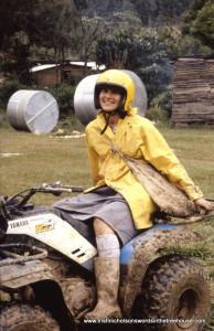 Trish Nicholson at Davinap on mud-bug
