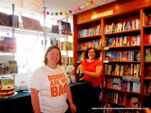 Mog and Pauline at Warwick Books