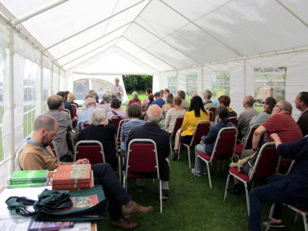 Starting my talk at Lowdham Book Festival