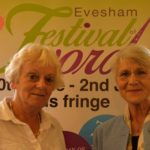 Me with Sue Ablett, Chair of the festival committee. (Image by Angela Fitch Photography)