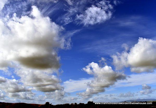 advancing clouds