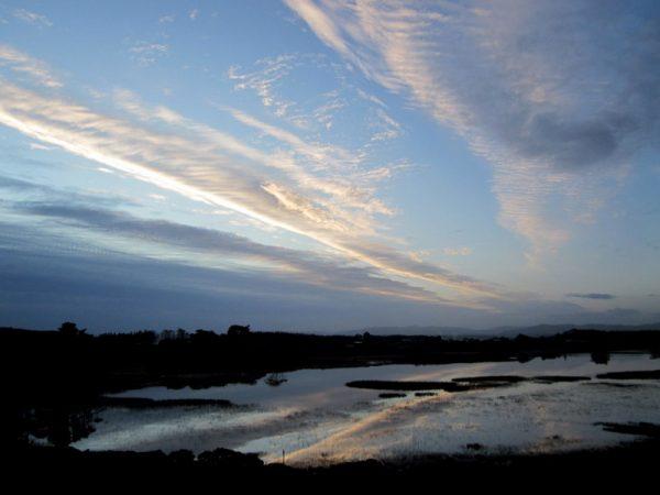 streaks of cloud